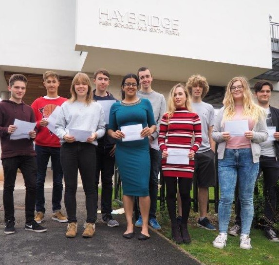 Haybridge Students Celebrate Their A-Level Successes